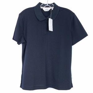 CALLAWAY Women's Polo Shirt Black S/S Mesh NEW NWT